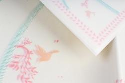 """Ламинированный фетр """"Птички"""" 60x60cm (10 листов), Розовый"""