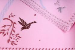 """Ламинированный фетр """"Птички"""" 60x60cm (10 листов), Ярко-Розовый"""