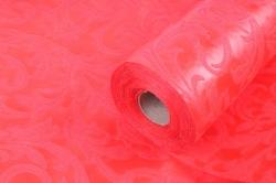 Ламинированный фетр 50см*10м Листья красный (Н)