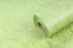 Ламинированный фетр 50см*10м Листья салатовый (Н)