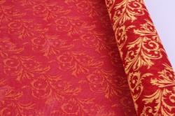 лен с рисунком 50*5y (узор желтый/красный)