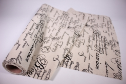 Лён в рулоне  (48см*5ярд) с рисунком Британский английский