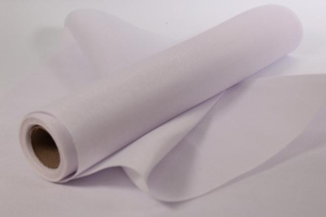 Лён в рулоне  (50см*5ярд) однотонный - Белый