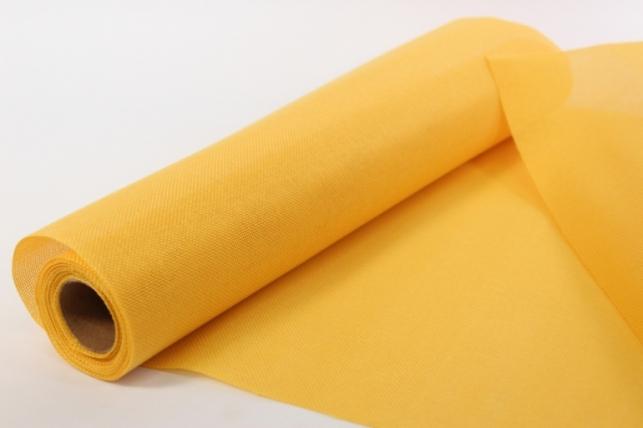 лён в рулоне  (50см*6ярд) однотонный - желтый