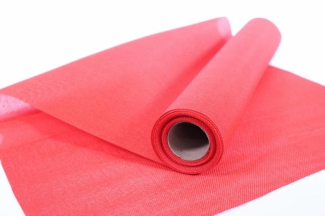 Лён в рулоне  (50см*5ярд) однотонный - Красный