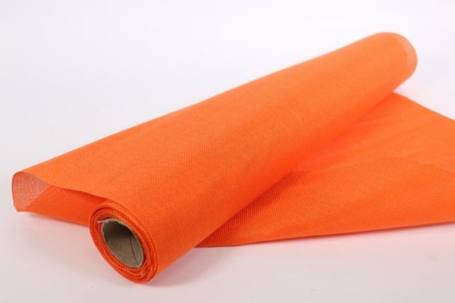 Лён в рулоне  (50см*5ярд) однотонный - Оранжевый