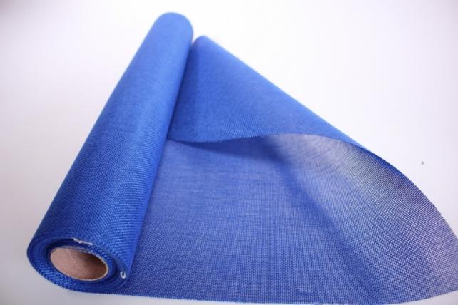 Лён в рулоне  (50см*5ярд) однотонный -  Синий