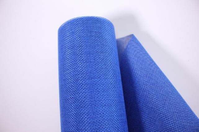 лён в рулоне  (50см*6ярд) однотонный -  синий