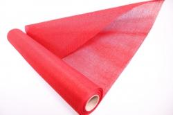 Лён в рулоне  (50см*5ярд) однотонный -  тёмно-красный