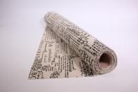 Лён в рулоне  (50см*5ярд) с рисунком -  Газета