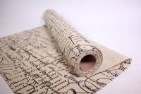 Лён в рулоне  (50см*5ярд) с рисунком -  Рукопись