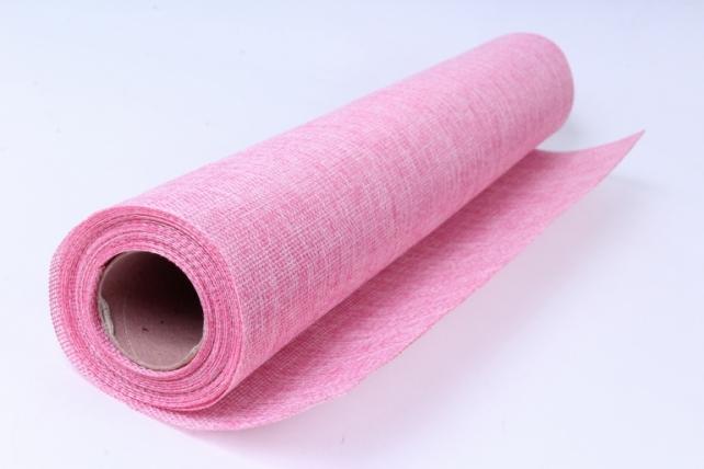 лён в рулоне  (50см*6ярд) однотон. нежно-розовый