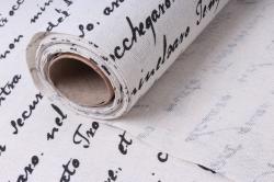 лён в рулоне  (50см*6ярд) с рис. поэма