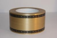 траурная ритуальная лента 6,0 см 50 ярдов дубки простые лента 6х50у бронзовая p694 P694