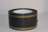 траурная ритуальная лента 6,0 см 50 ярдов дубки простые лента 6х50у чёрная р695 P695