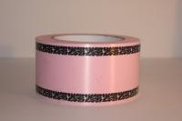 траурная ритуальная лента 6,0 см 50 ярдов дубки простые лента 6х50у розовая р677 P677