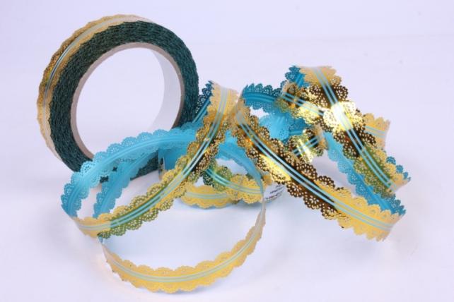 лента ажур (2см*25ярд) c216 голубой