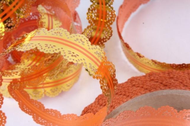 Лента ажурная (2см х 25ярдов) - с217 Оранжевый