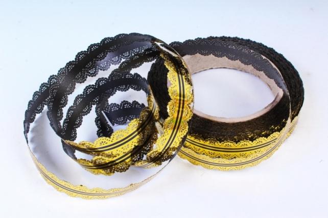 Лента ажурная (2см х 25ярдов) - с22 Черный