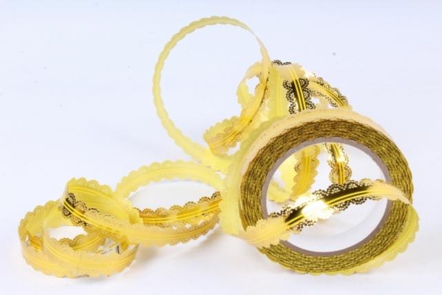 Лента ажурная (2см х 25ярдов) - с26 Желтый