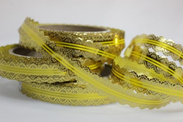 2х25у ажурная лента лента ажурная (2см х 25ярдов) - с26 желтый C26