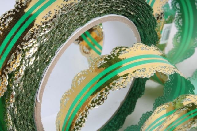 Лента ажурная 3х25у Зелёная С39