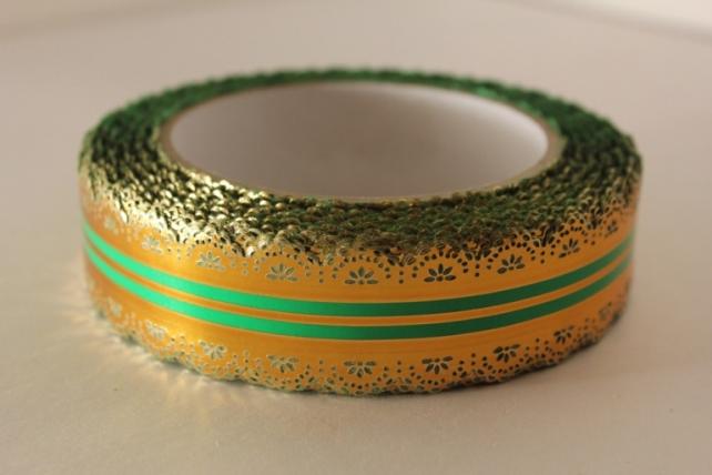 3х25у ажурная лента лента ажурная 3х25у зелёная с39 C39