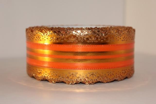 Лента ажурная 5х25у Оранжевая с517