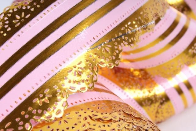 Лента ажурная 5х25у Розовая с510