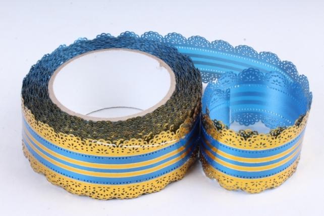 Лента ажурная (5см х 25ярдов) - с50 Синий