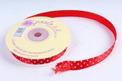 Лента атл. в горошек Красная  1,2мм*25м   KROPKA 026