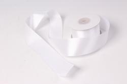 лента атлас 4см х 25ярд белый 1(н) к