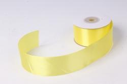 Лента атлас 4см х 25ярд желтый 15(Н) К