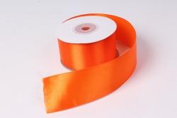 Лента атлас 4см х 25ярд оранжевый 17 (Н) К