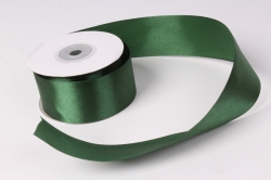 Лента атлас 4см х 25ярд темно-зеленый (Н) К