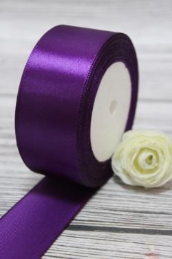 Лента атлас 4см х 25ярд фиолетовый (046)  8721Н
