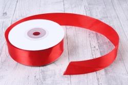Лента атлас 2,5см х 25ярд красный  (Н)  К
