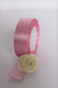 Лента атлас 2,5см х 25ярд розовый флокс (094) 6999Н