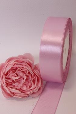 Лента атлас 2,5см х 25ярд розовый мел (149) 7057Н