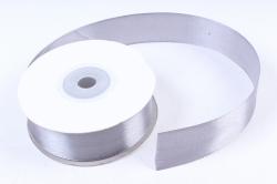 Лента атлас 2,5см х 25ярд серый (Н) К