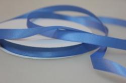 Лента атласная (10 мм х 30 м) Голубая Китай