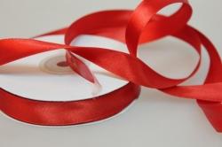 Лента атласная (15 мм х 30 м) Красная Китай