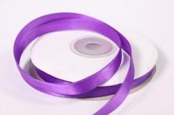 Лента атласная - 1см*25ярд фиолетовый 465 (Н). К