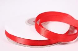 Лента атласная - 1см*25ярд красный 235 (Н). К