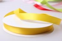 Лента атласная (1см на 25ярдов) Н - Жёлтый