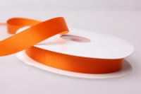 Лента атласная (1см на 25ярдов) Н - Оранжевый