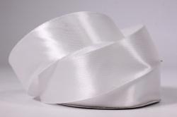 Лента атласная - 2,5см*25ярд белый 1 (Н). К
