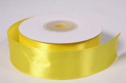 Лента атласная - 2,5см*25ярд желтый 15 (Н). К