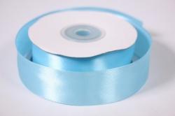 лента атласная - 2,5см*25ярд голубой 11 (н). к