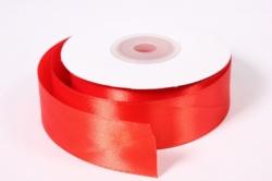 Лента атласная - 2,5см*25ярд красный 26 (Н). К
